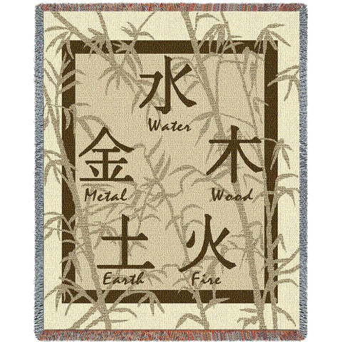 Feng Shui Art Tapestry Throw