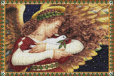 Angel and Dove Art Tapestry Placemat, Set of 4