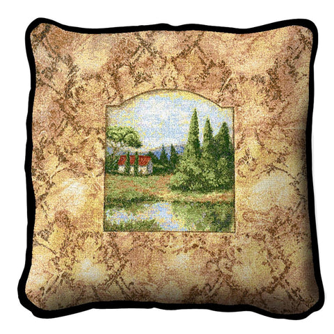 Mountain Home Art Tapestry Pillow