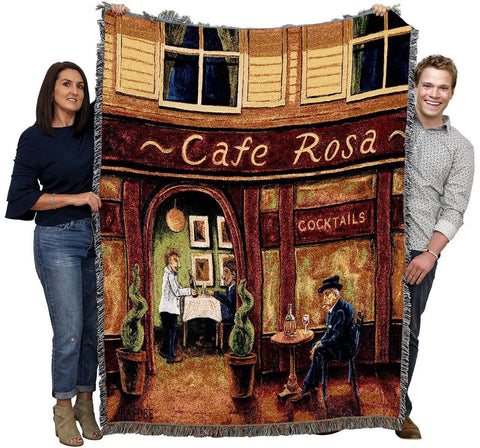 Cafe Rosa Art Tapestry Throw