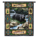 Bear Lodge Art Tapestry Wall Hanging