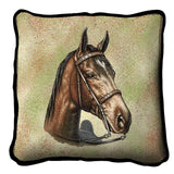 Tennessee Walking Horse Portrait Art Tapestry Pillow