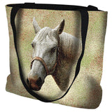 Quarter Horse Portrait Art Tapestry Tote Bag