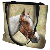 Pinto Horse Portrait Art Tapestry Tote Bag