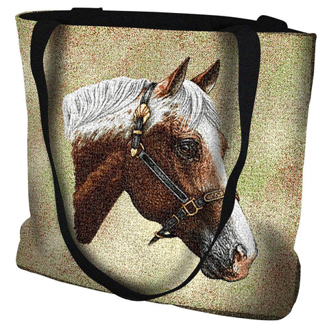 Appaloosa Horse Portrait Art Tapestry Tote Bag