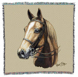 American Saddle Horse Portrait Art Tapestry Lap Throw