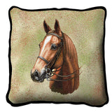 American Saddle Horse Portrait Art Tapestry Pillow