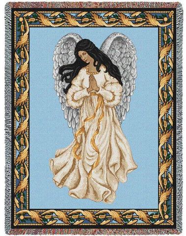 Guardian Angel III Art Tapestry Throw