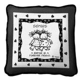 A Sister Is A Forever Friend by Marci Art Tapestry Pillow
