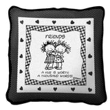 Friends by Marci Art Tapestry Pillow