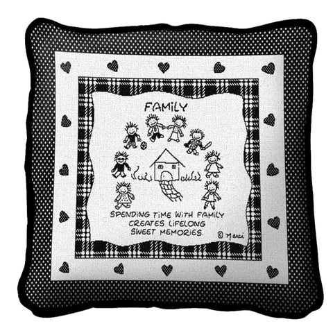 Family Sweet Memories by Marci Art Tapestry Pillow