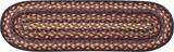 Black Cherry/Chocolate/Cream Oval Braided Jute Stair Tread 19-371