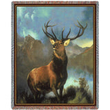 Buck Monarch of the Glen Art Tapestry Throw