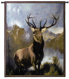 Buck Monarch of the Glen Art Tapestry Wall Hanging