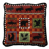 Adirondack Lodge Art Tapestry Pillow