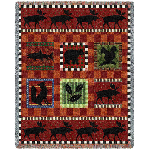 Adirondack Lodge Art Tapestry Throw