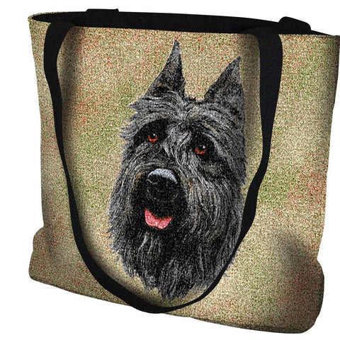 Bouvier Des Flandres Dog Portrait Art Tapestry Tote Bag