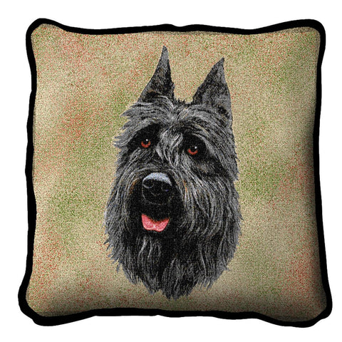 Bouvier Des Flandres Dog Portrait Art Tapestry Pillow