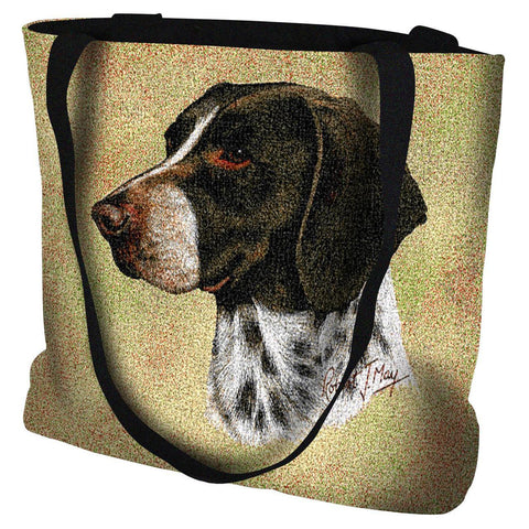 German Shorthaired Pointer Dog Portrait Art Tapestry Tote Bag