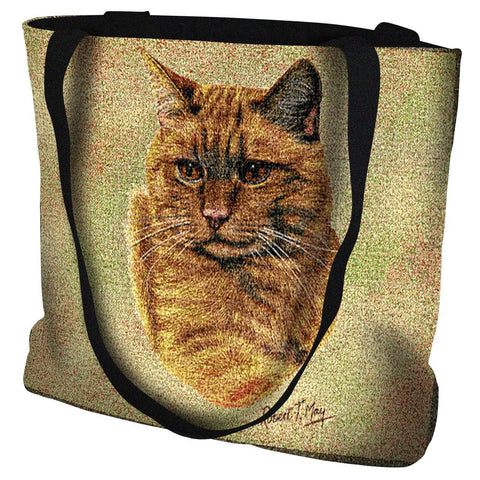 Red Tabby Cat Portrait Art Tapestry Tote Bag