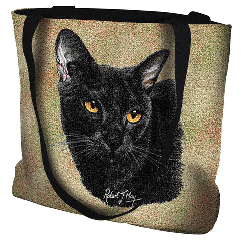 Bombay Cat Portrait Art Tapestry Tote Bag