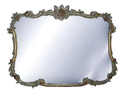 French Ornate Buffet Wall Mirror Antique Reproduction in Verona Finish