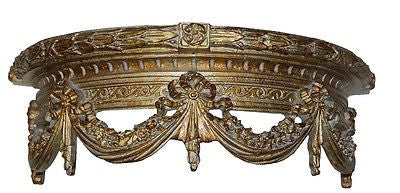 Olde World Swag Canopy Bed Crown in Sierra Gold Color Finish