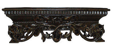 French Inspired Leaf Design Bed Crown in Napoleon Finish