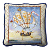 Airship Hot Air Balloon Art Tapestry Pillow