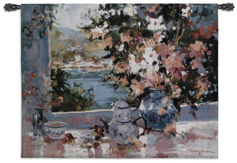Window View Art Tapestry Wall Hanging