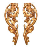 French Inspired Leaf Design Tie-Backs Set in Baroque Finish