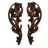 French Inspired Leaf Design Tie-Backs Set in Bronze Finish