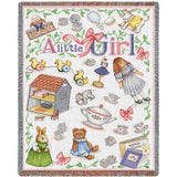 A Little Girl Art Tapestry Mini Throw