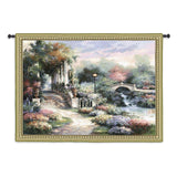 Classic Garden Retreat Art Tapestry Wall Hanging in 2 Sizes