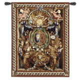 "Portieve Du Char De Triomphe Cotton & Wool Blend Art Tapestry Wall Hanging 53""x70"""