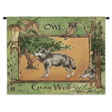 Gray Wolf Art Tapestry Wall Hanging
