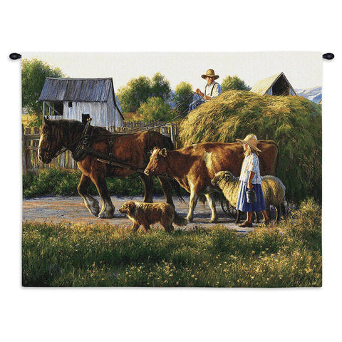 Country Parade Art Tapestry Wall Hanging