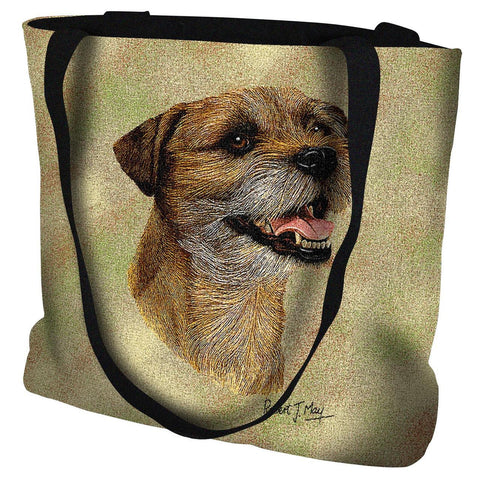 Border Terrier II Dog Portrait Art Tapestry Tote Bag
