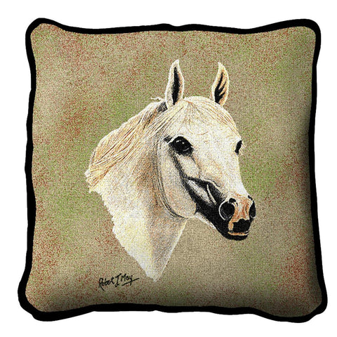 Arabian Horse II Portrait Art Tapestry Pillow