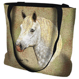 Percheron Horse Portrait Art Tapestry Tote Bag