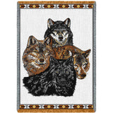 Wolves Art Tapestry Throw
