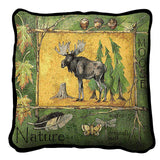 Moose and Nature Art Tapestry Pillow