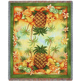 Pineapples and Fruit Woven Art Tapestry Throw