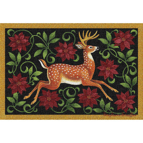 Christmas Deer Art Tapestry Placemat, Set of 4