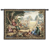 Musical Maidens Scene Art Tapestry Wall Hanging