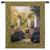 Garden Entrance with Hydrangea Art Tapestry Wall Hanging