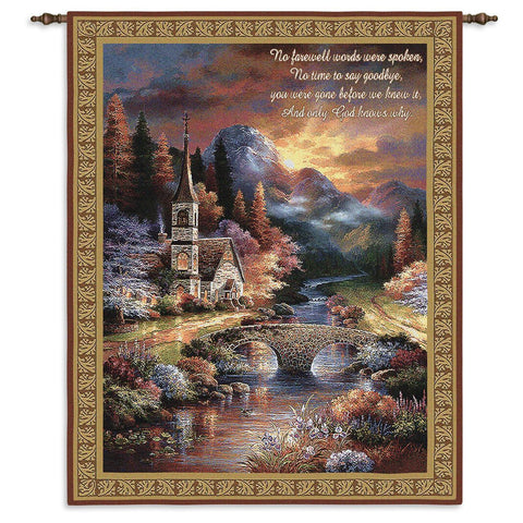 Early Service Memorial Art Tapestry Wall Hanging