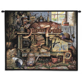 Remington The Horticulturist Cat Art Tapestry Wall Hanging