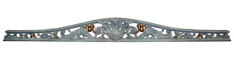 Acanthus Over-the-Door Wall Decor in Aged Blue Gold Finish