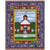 A Teacher Is A Special Friend Art Tapestry Throw